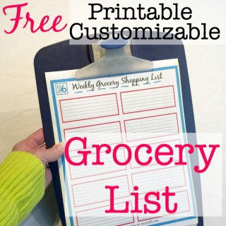 Printable Grocery List!