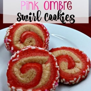 Pink Ombre Swirl Cookies