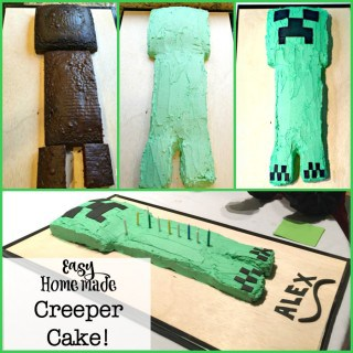 Easy Homemade Creeper Cake!