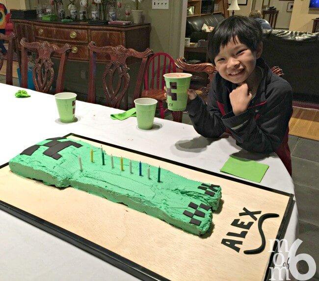 Easy Homemade Creeper Cake Momof6