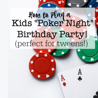 Boys Poker Night Birthday Party!