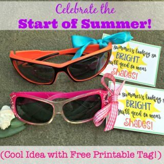 Celebrate the Start of Summer! (Cool Idea with Free Printable Tag!)