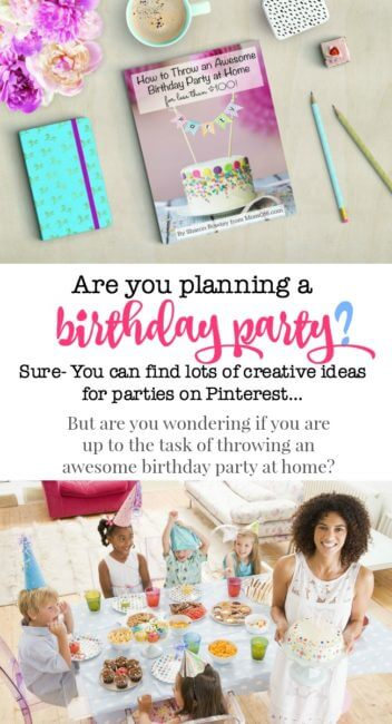 Are you planning a birthday party? This book shows you how to select a theme, pick a date, determine your guest list, plan your activities, and make your party fun and special for your birthday child- all while sticking to a $100 party budget! Packed with resources, ideas, and checklists- this ebook has everything you need to plan a fantastic birthday party at home!