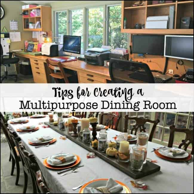 Tips for creating a multipurpose dining room momof6 for Multi use dining room ideas