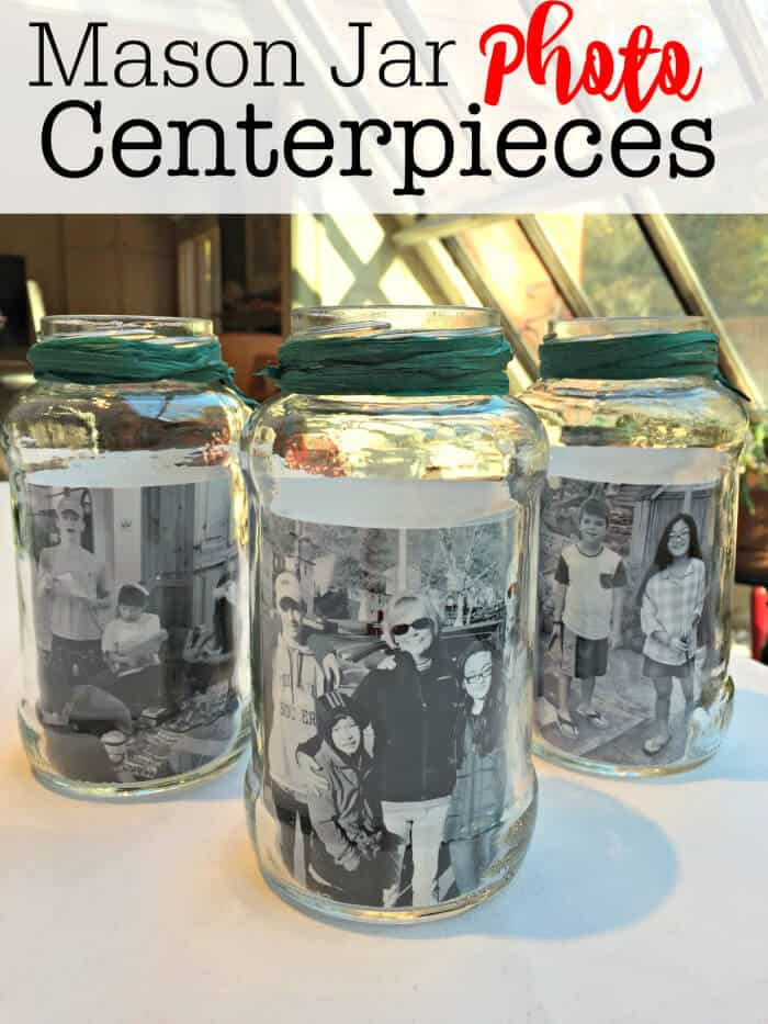 Table Centerpiece Ideas With Mason Jars : Mason jar photo centerpieces momof