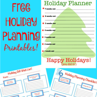 Holiday Planning Printables!