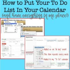 How to Put Your To Do List In Your Calendar (And Have Everything in One Place!)