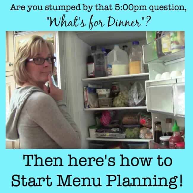 How to Start Menu Planning!