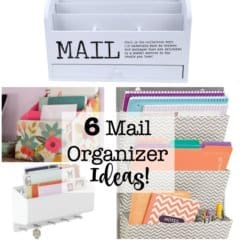 When mail enters your home- you need both a routine to deal with it as well as a place to put it! That's why I am sharing these 6 mail organizer ideas!