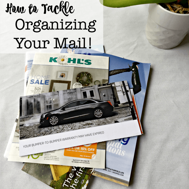 How to Tackle Mail Organization!