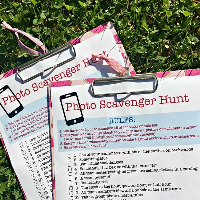 photo scavenger hunt instructions