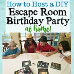 How to Throw an Escape Room Birthday Party at Home!
