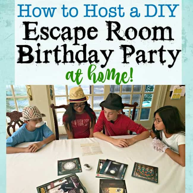 How to throw an escape room birthday party at home momof6 for Diy escape room