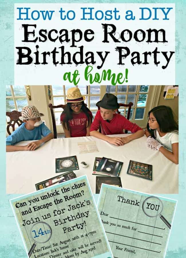 How to throw an escape room birthday party at home momof6 for Escape room party