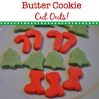 Christmas Cookies….  Butter Cookie Cut Outs!
