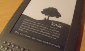 Sharon's Favorite Things….  My Kindle!