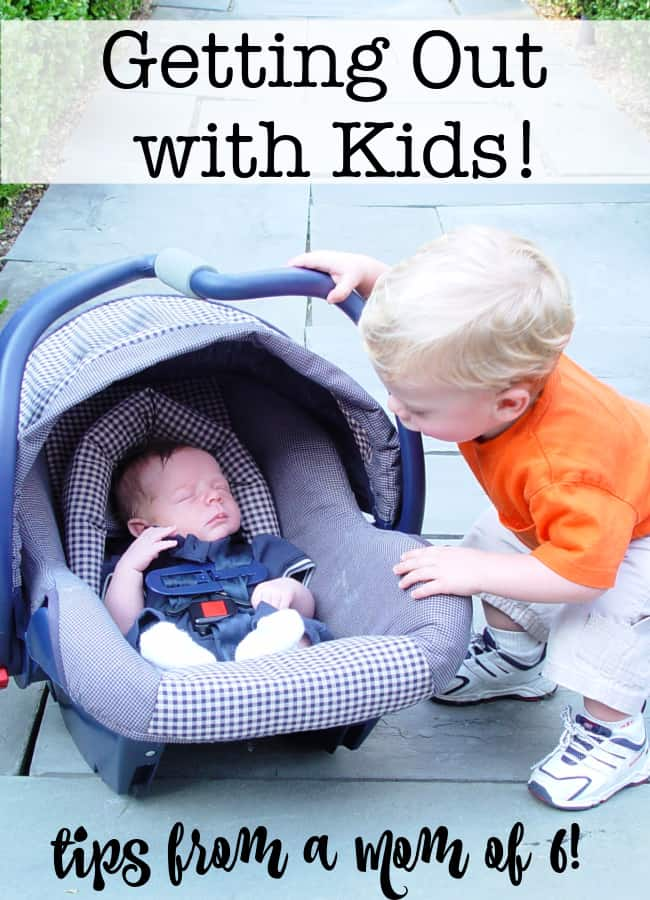 When the kids were little, one of the questions I was asked over and over was how I managed to get out and about with the kids- especially when it was just me and the crew (without my husband along to help wrangle our large family). So here are my tips on getting out with kids!
