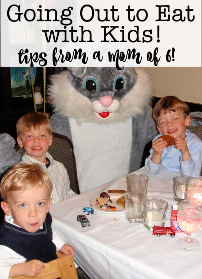 When you have young kids, a large family, or both (!) it can be intimidating to head out to a restaurant for dinner! Here's what we've learned over the years about going out to eat with kids!