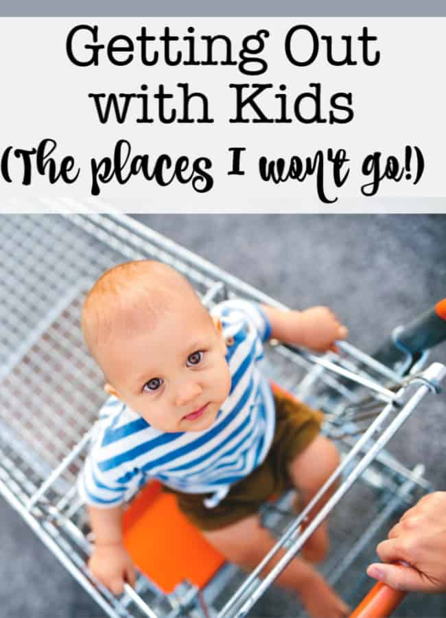 I've shared lots of advice on how to get out and about with my large family! So it is only fair for me to explain that there are many places I won't go with my kids! Either I go alone, or I just don't go at all!