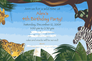Great 4 Year Old Birthday Party Idea: A Safari Party!