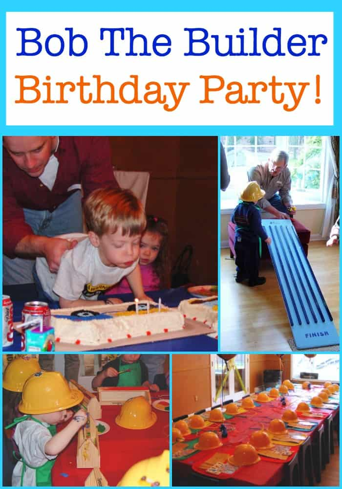 If your birthday boy or girl loves the Bob the Builder character (from books or videos) or just loves big construction trucks- this Bob the Builder Birthday Party might be perfect for them! It was the first of many kids birthday parties we threw at home, and we learned so much from this experience! Read on to see why!
