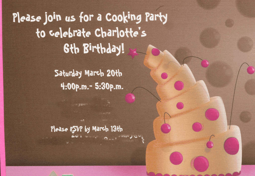 Great 6 Year Old Birthday Party Idea A Cooking Party MomOf6 – Vista Print Birthday Party Invitations