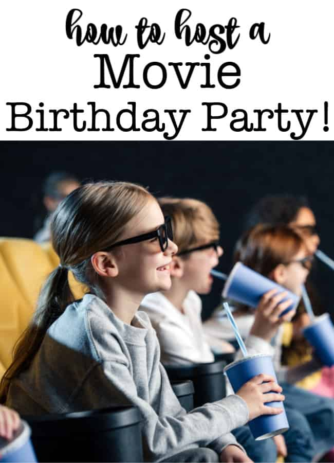 A movie birthday party is a great party theme that is perfect for kids who are past the age of treasure hunts and little kids party games, but not quite ready yet for a sleepover party! Here are my tips on how to host a movie-themed birthday party!