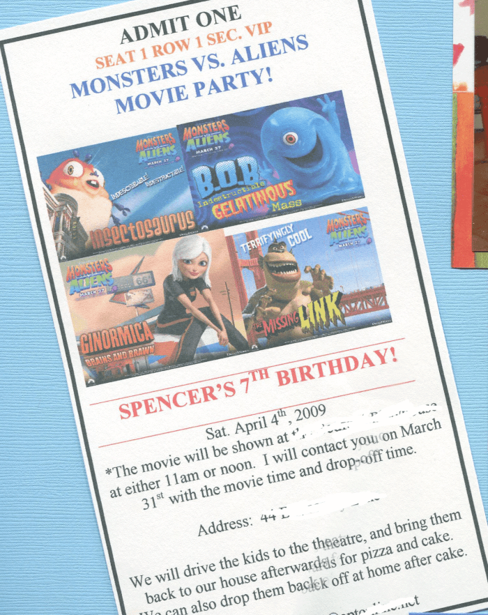 Great 7 Year Old Birthday Party Idea: Go Out to the Movies! - MomOf6