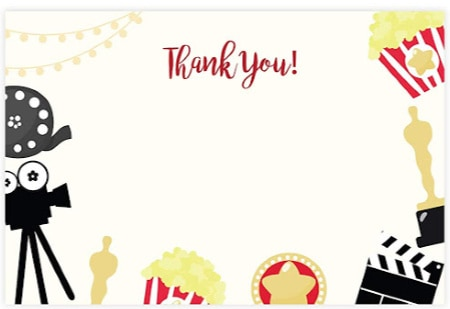 movie party thank you note