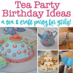 Tea Party Birthday Ideas: A Tea and Crafts Party that is perfect for a 7th Birthday!