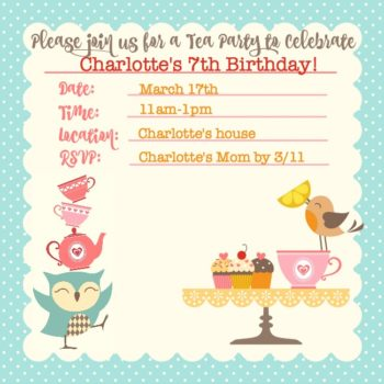 Tea Party Birthday Ideas A Tea And Crafts Party That Is Perfect For