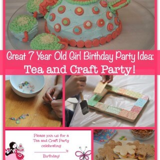 Great 7 Year Old Girl Birthday Party Idea: Tea and Craft Party!