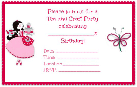 Interplay craft party princess sewing craft party invitation for craft party invitation stopboris Image collections