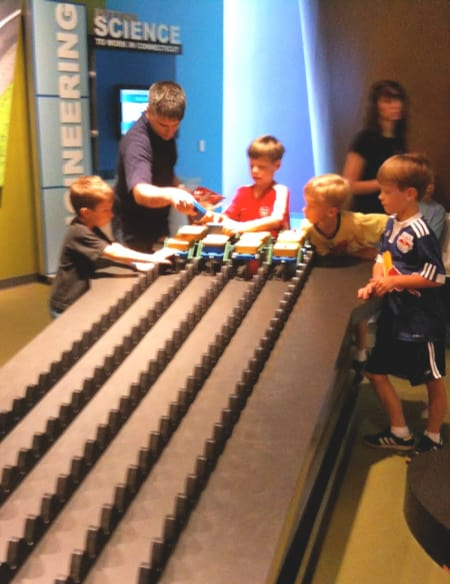 visiting science centers with kids