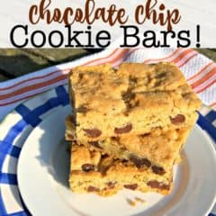 Chocolate Chip Cookie Bars!
