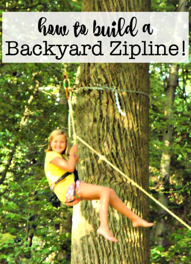 How to Build a Backyard Zipline! - MomOf6