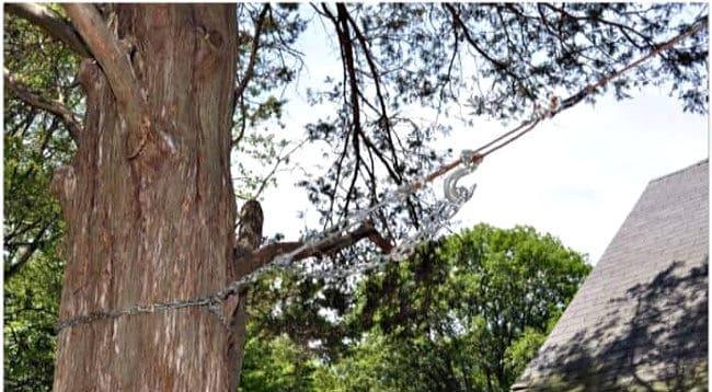 installing a backyard zipline