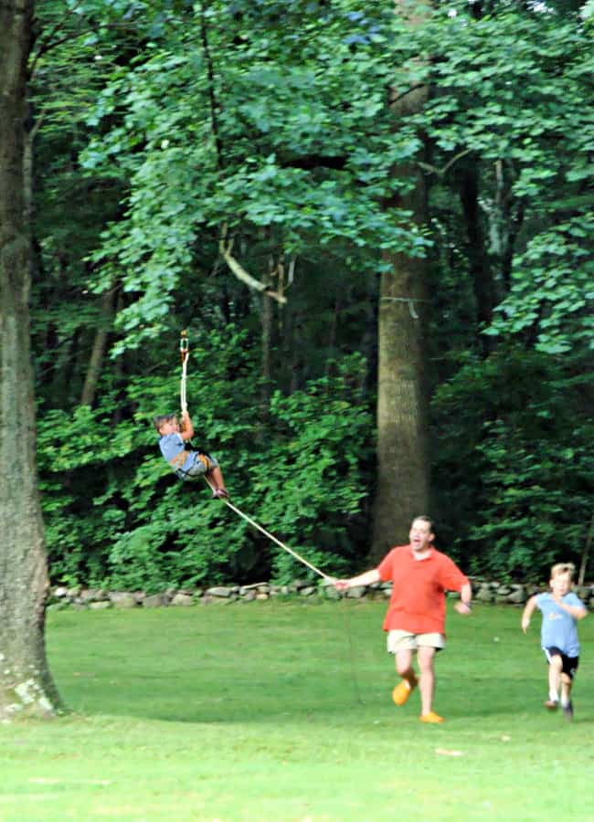 creating a backyard zipline