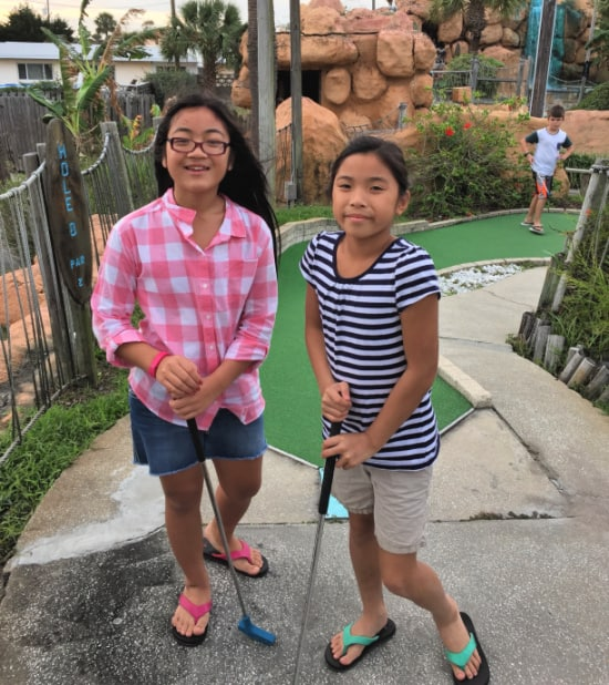 My family LOVES to play mini golf- especially at one of those highly themed challenging courses with lots of hills and tunnels and obstacles. Which is why we always make this one of our DIY summer camp field trips!