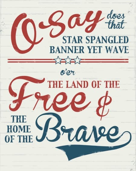 free Independence Day printables