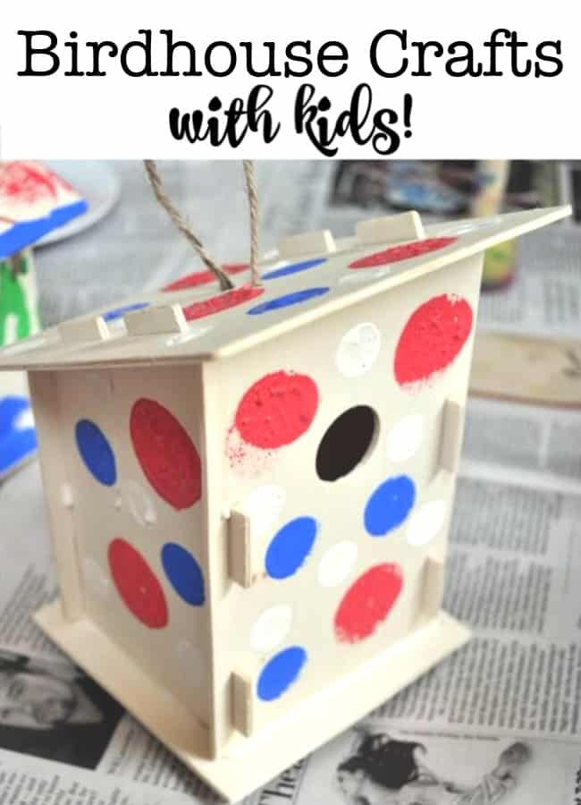 This is a fun craft idea- made from pre-cut pieces that you assemble into birdhouses, and then paint as you'd like! I loved creating these Make and Paint Birdhouses with the kids as part of our DIY summer camp at home!