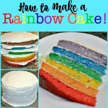How to Make a Rainbow Cake!