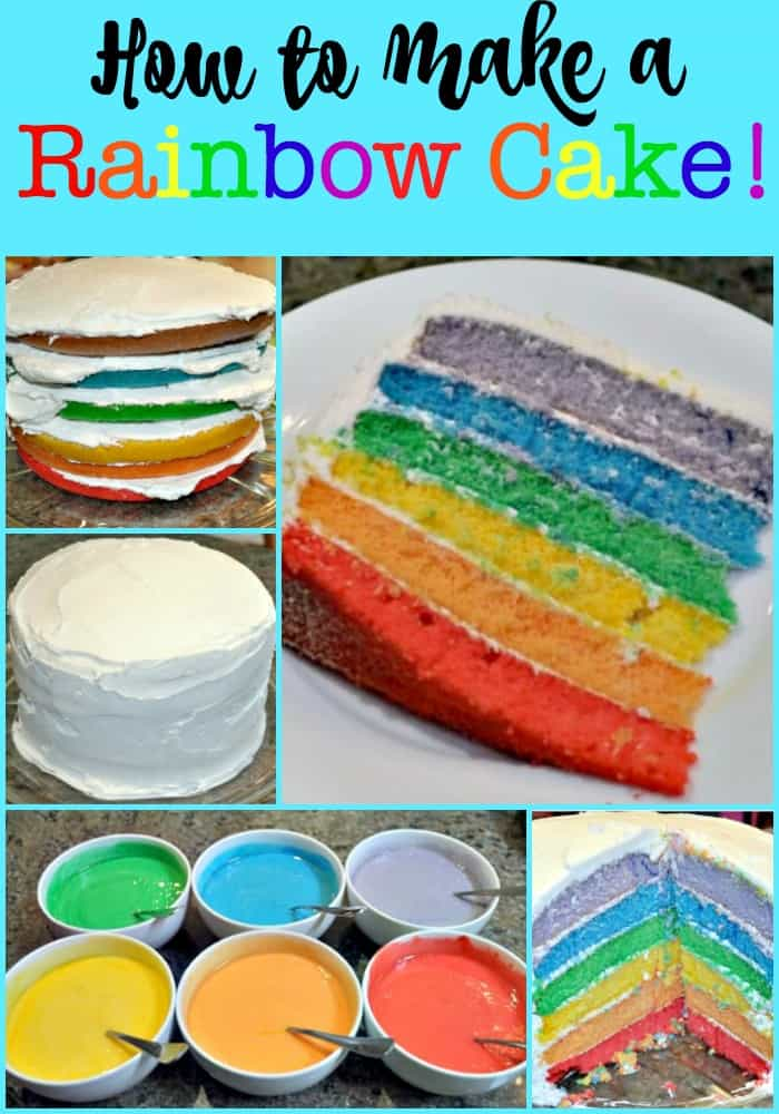 How to Make a Rainbow Cake! - MomOf6