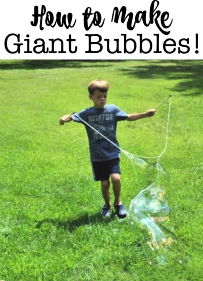 Summertime and bubbles- two things that are meant to be together. That's why I wanted to show you how to make giant bubbles- a perfect activity for your DIY summer camp at home!