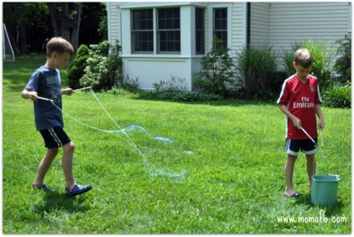 Summer Camp At Home Craft: Giant Bubbles!