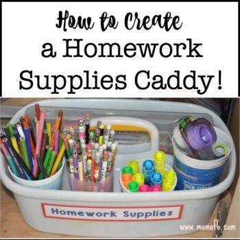 How to Create a Homework Caddy!