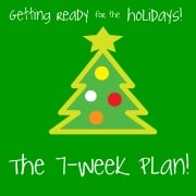 My holiday game plan- 7 weeks out