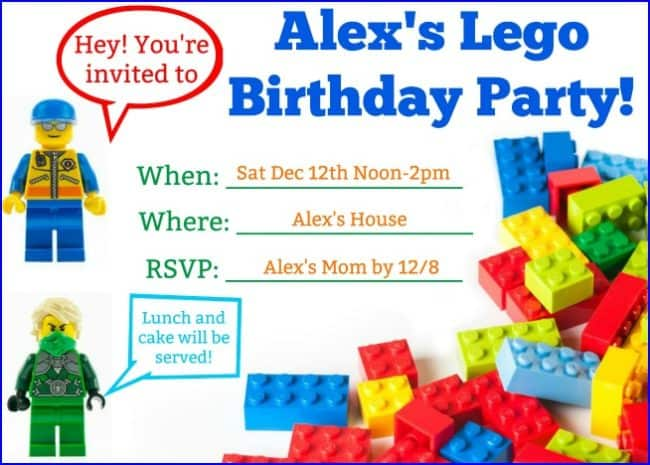 picture regarding Lego Party Printable referred to as Terrific Strategies for a Lego Birthday Get together with cost-free printable