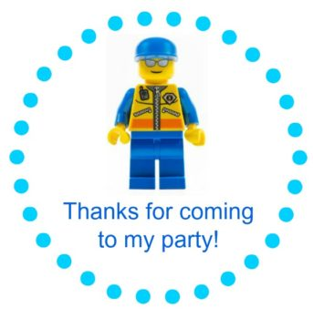 Lego party favor tag