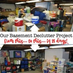 Basement Declutter Project: With Before & After Pics & Tips!